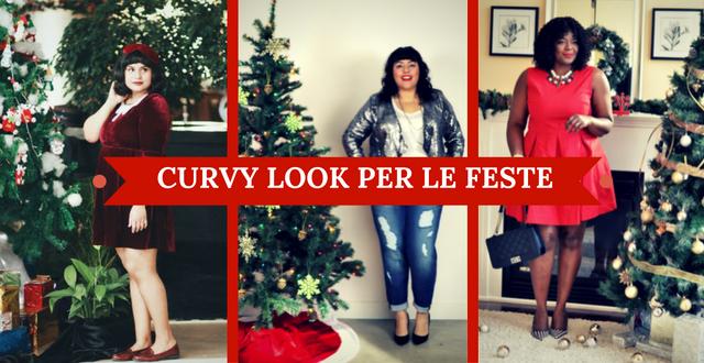 Outfit di Natale curvy classico  ovvero il solito maglione scuro con  quattro pailettes in croce e magari un accessorio rosso 0b56d76f2fe